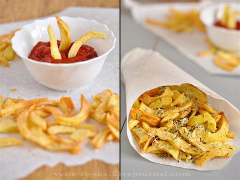 Картофель-фри с чесночно-сыр…