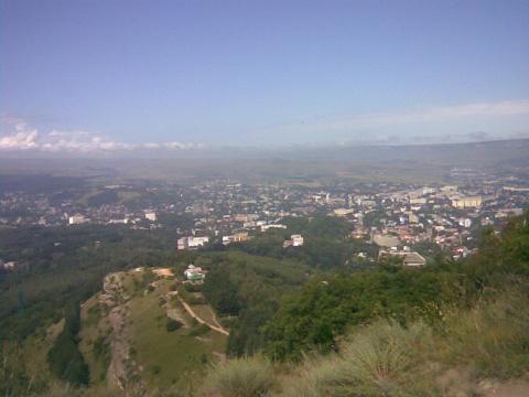 Вид на город с Олимпиского комплекса.