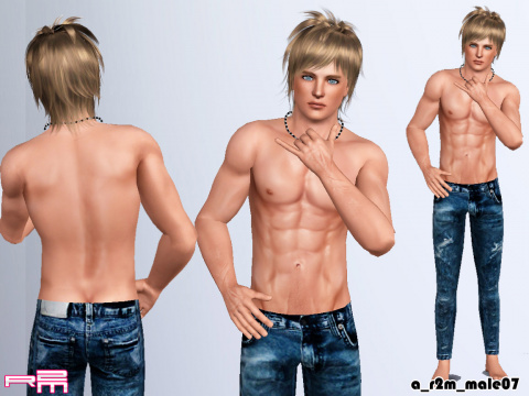 Pose male part 02 with template by Re Maron