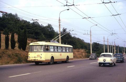 Путешествие на троллейбусе из Симферополя в Ялту в 1973 году