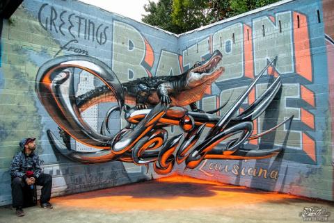 Удивительные 3D-граффити в Португалии