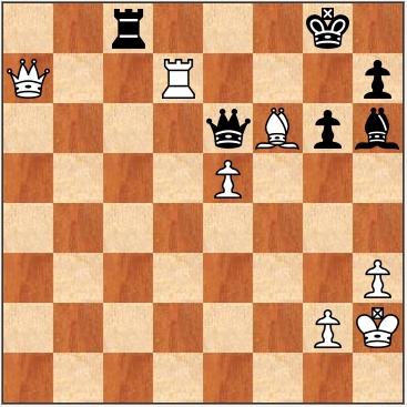 Шахматная диаграмма. Партия кубка мира ФИДЕ 2011 по шахматам
