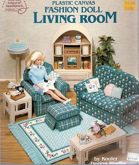 Вышитая кукольная мебель из