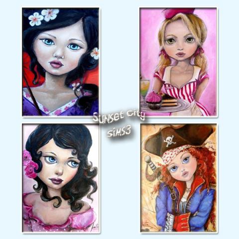 Dolls - Paintings by Kruela