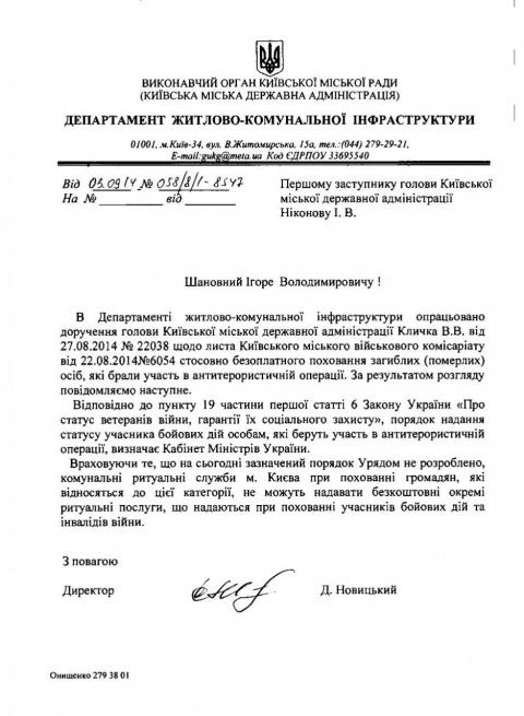 Киевские чиновники отказываю…