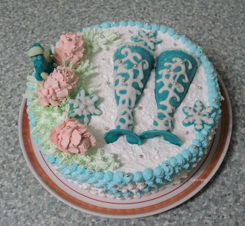 """Торт """"С НОВЫМ ГОДОМ"""" - птичье молоко. Поздравляю всех сайтеров!!!"""