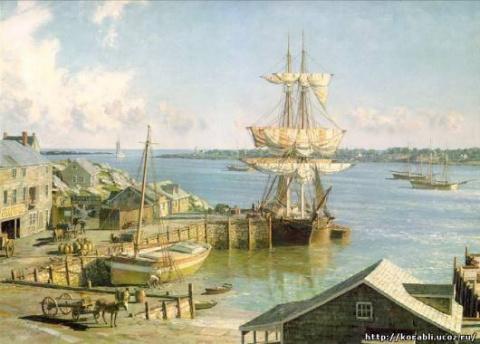 картина «В испанском порту»