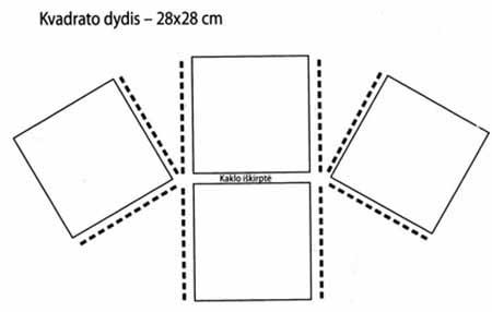схема соединения квадратов