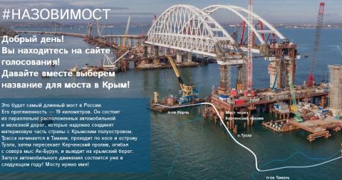 Началось голосование за выбор названия моста в Керченском проливе
