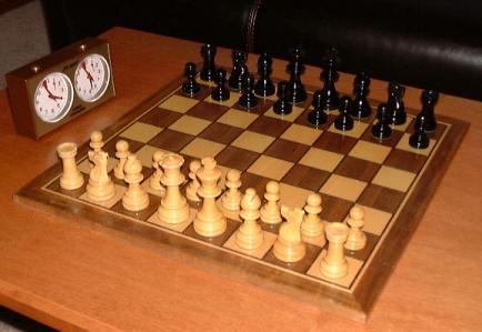Шахматы. Современный вид, шахматные фигуры, шахматные часы