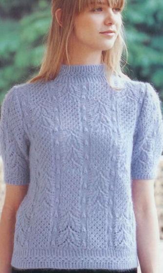 Как связать пуловер спицами?