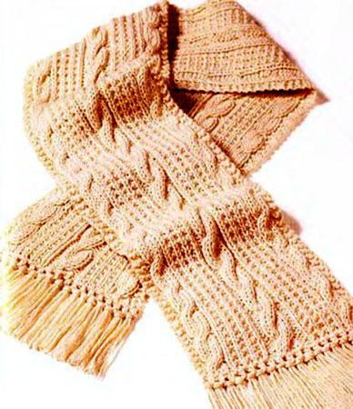 вязаные мужские шарфы,