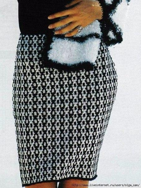 Оригинальная юбка спицами