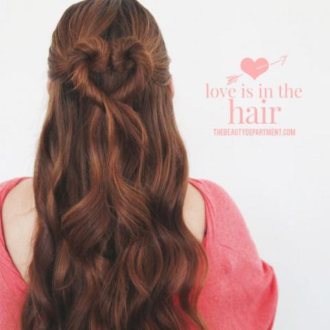 Сердечко в волосах - прическа к 14 февраля