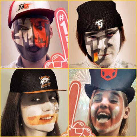 Вконтакте даст разукрасить лицо в поддержку любимой команды по LoL