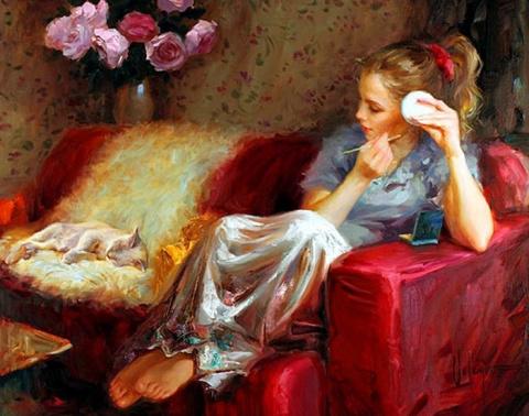 Женщина, как кошка – ищет, где теплее…