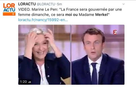 Марин Ле Пен убила Макрона в прямом эфире