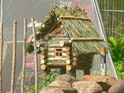 кошкин дом, домик для кошки на даче, строим сруб, сруб своими руками, домик для кошки своими руками, соломенная крыша, крыша из камыша, камышовая кровля, соломенная крыша своими руками, соломеная крыша