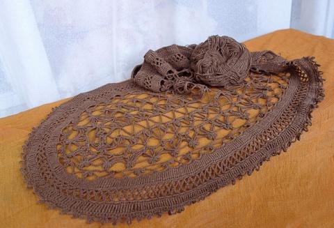 Скатерь,цвета шоколада (продолжение 1).