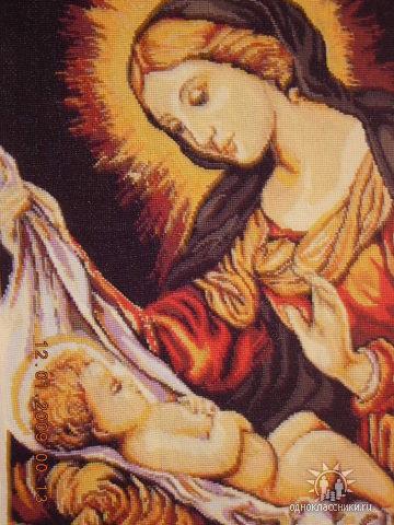 Вышивка крестом - Мадонна с