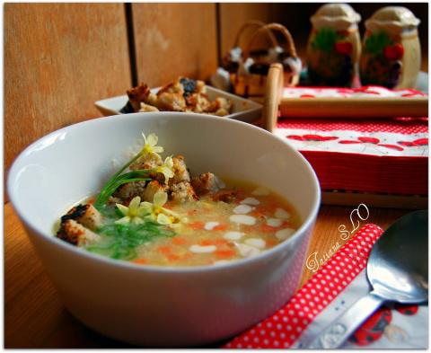 "Суп со сливками ""по-римски"" по рецепту Александра."