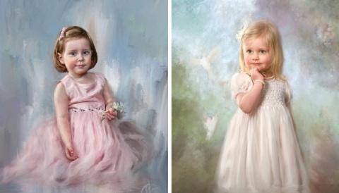 Цифровая живопись — новая страница в истории искусства: детские портреты Ричарда Рэмси