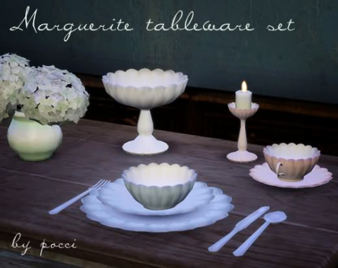 Marguerite tableware set by Pocci