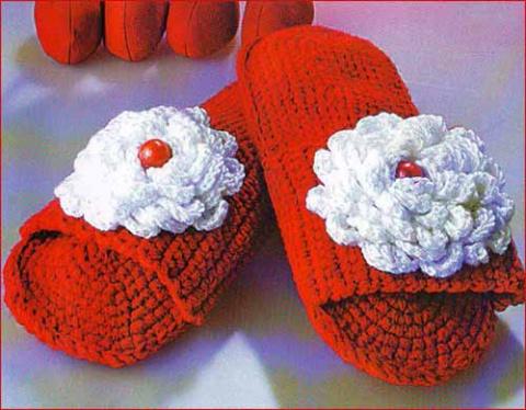 шлепанцы с цветком
