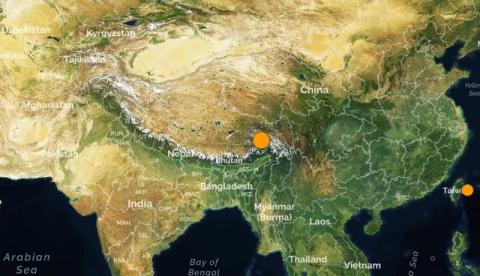 Тибет. Землетрясение магнитудой 6.5