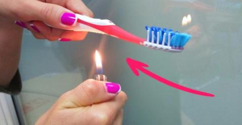 Подожги зубную щетку, чтобы …
