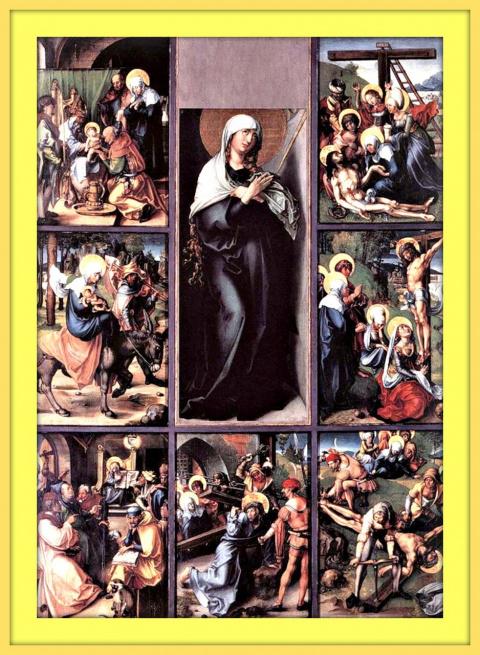 Семь страданий Марии.Ок.1498г.