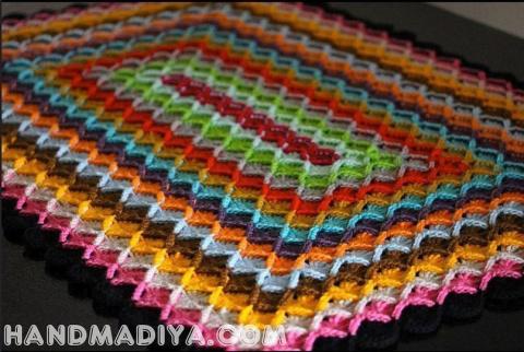 Баварское вязание пледа