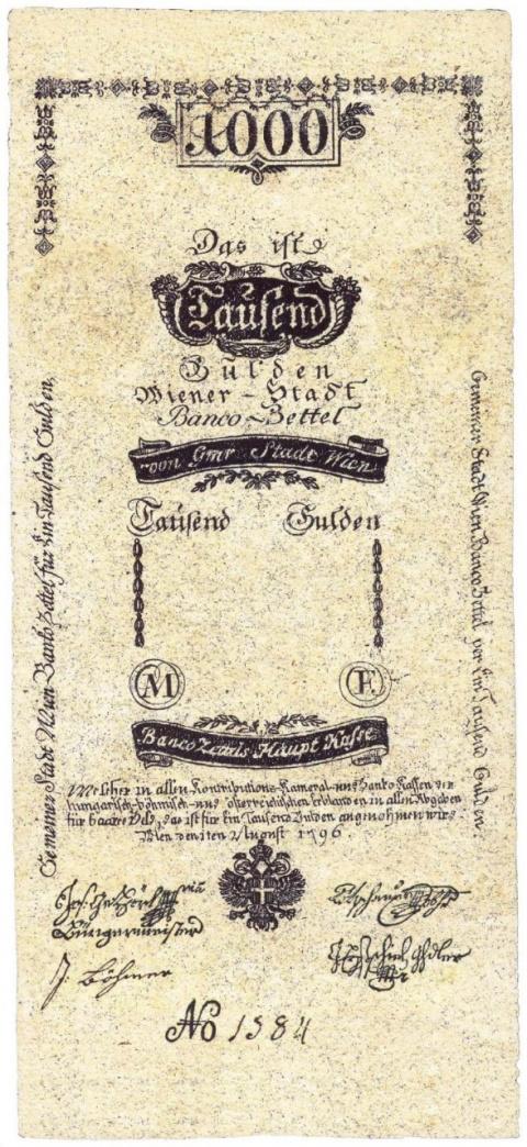 Банкноты Австро-Венгрии 1762-1806 гг.