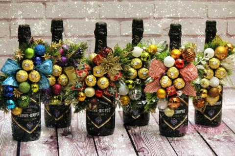 Новогодние бутылочки