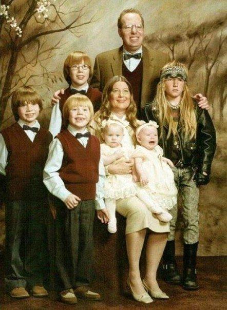 Самые нелепые семейные фото