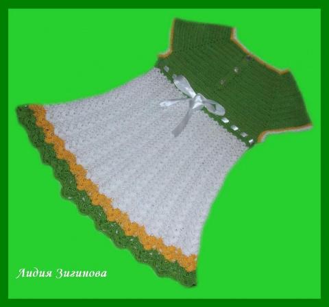 Платье для девочки вязание крючком