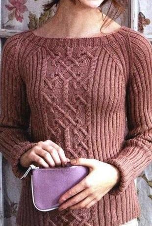 2 пуловера с красивыми арана…