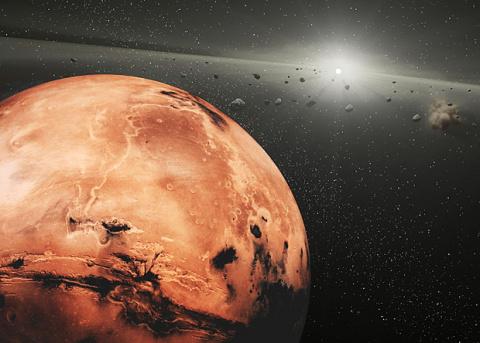 Солнечный свет отломал куски от марсианского астероида