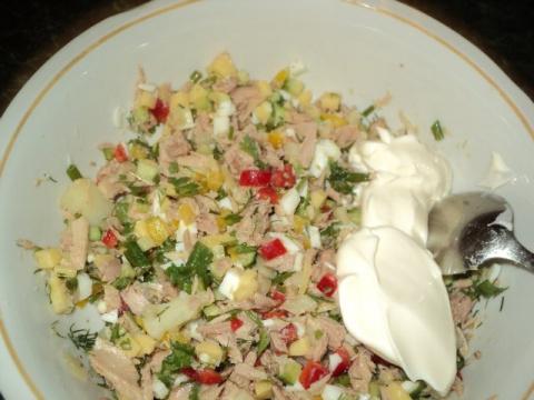 Корзинка с салатом. Рецепт Людмилы Головченко.