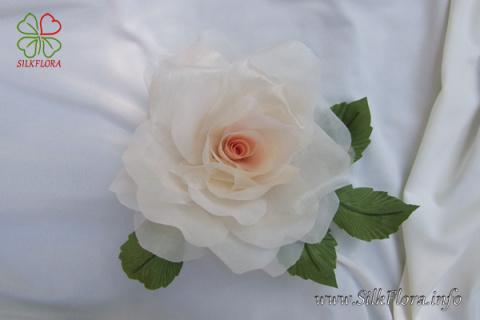 Бесплатный видео-урок «Роза из ткани за 30 минут» от знаменитого художника-модельера по цветам из ткани!