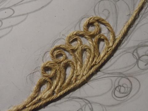 Филигрань из верёвочки. МК Веры Пушиной