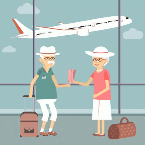 Пожилая пара болтает в самолёте по дороге на курорт. Подслушав их разговор, стюардесса решила задать вопрос…