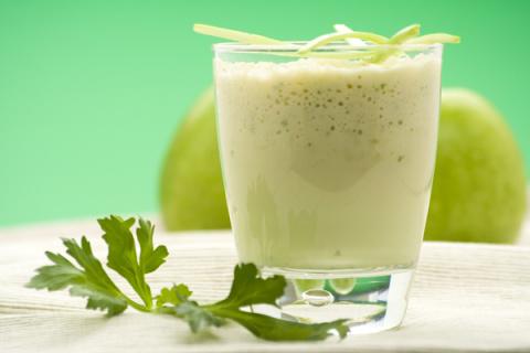 молочный коктейль с яблоками