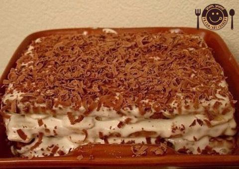 Торт из печенья с бананом на…