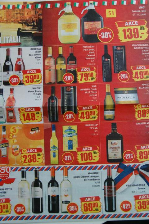 цены на алкоголь в чехии