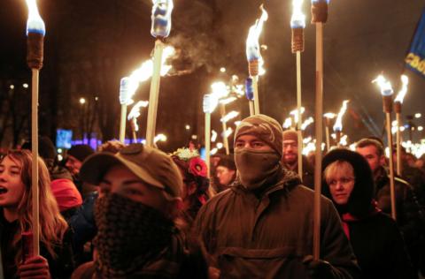 Националистов со всей Украин…