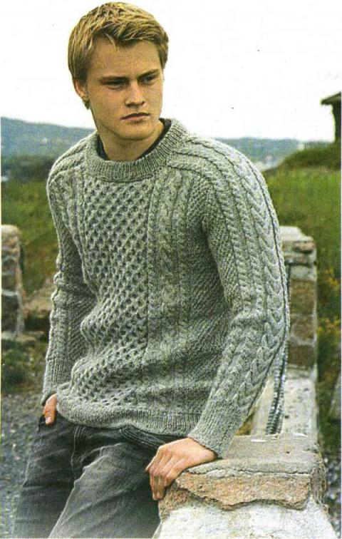 Мужской пуловер.