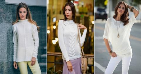 Белый джемпер – 41 фото самых стильных моделей этого сезона