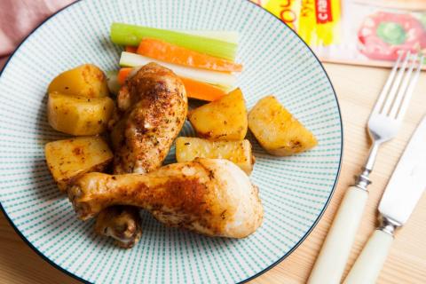 Сочная курица с картофелем с…