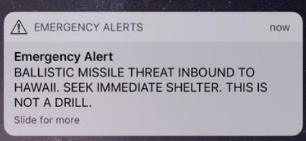 Hawaiians Rattled by False Missile Alert